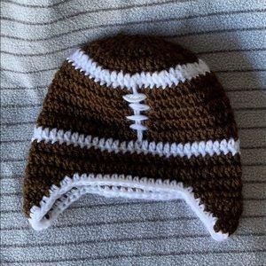 Knit football hat
